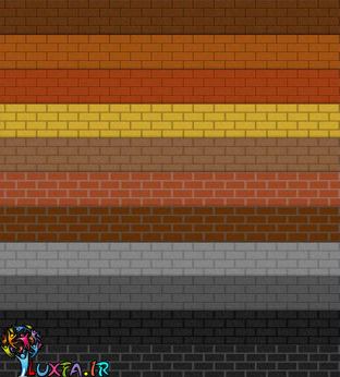 الگوهای برای فتوشاپ - آجر واقعی